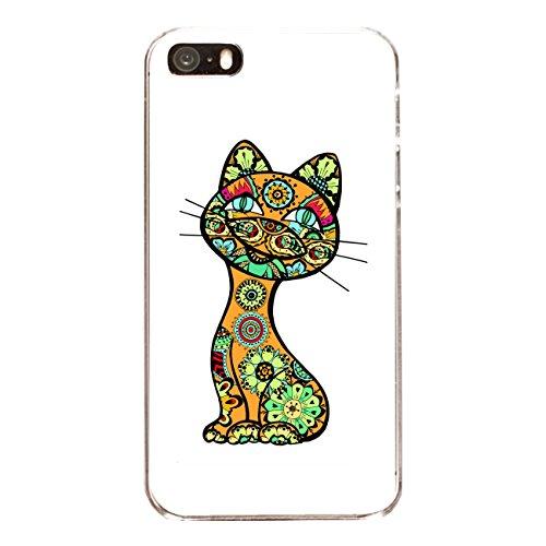 "Disagu Design Case Coque pour Apple iPhone 5 Housse etui coque pochette ""Lustige Katze"""