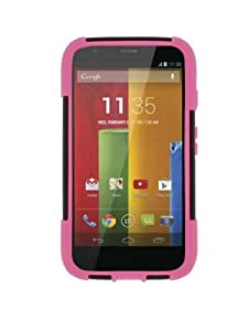 MPERO IMPACT X Series Kickstand Case for Motorola Moto G - Black / Hot Pink