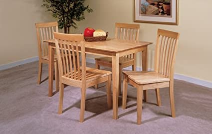 Amazon Com Kings Brand Furniture 5 Pc Set Natural Solid Pine Wood