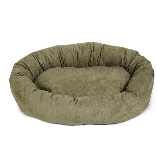 "Majestic Pet Small 24"" Bagel Dog Pet Bed MicroSuede - Sage"