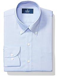 Men's Slim Fit Button-Collar Solid Non-Iron Dress Shirt