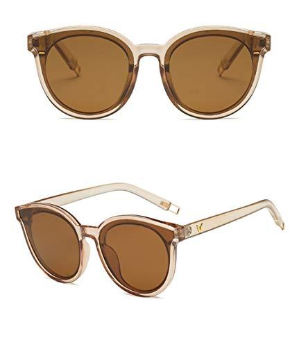 Caja WJYTYJ Negro Polarizadas De Retro Moda Retro Unisex Sol Gafas UV Clásica Tendencia Gafas Grande La De Redondas Gestión BqFB6wf
