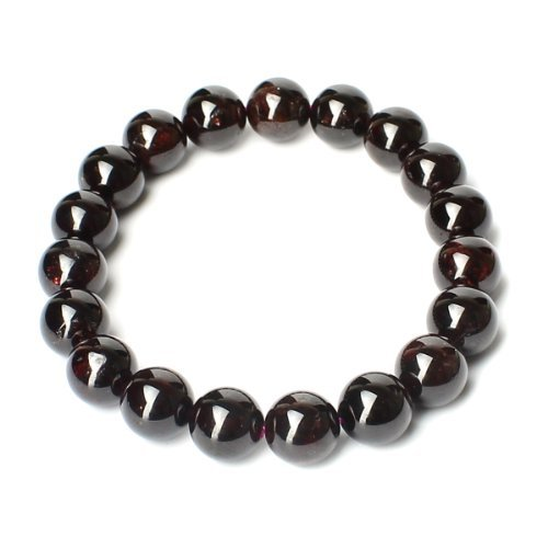 O-stone 2A Garnet Passion Bracelet Grounding Stone Protection D11mm by O-STONE