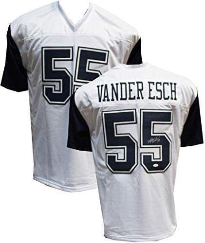 Authentic Leighton Vander Esch Autographed Signed White/Blue Custom Jersey JSA COA Dallas Cowboys LB