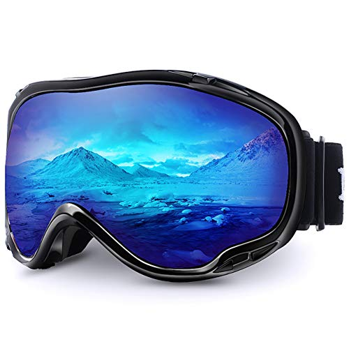 Juli Ski Goggles,Winter Snow Sports Snowboard Goggles with Anti-Fog UV Protection Double Lens for Men Women & Youth Snowmobile Skiing Skating M1