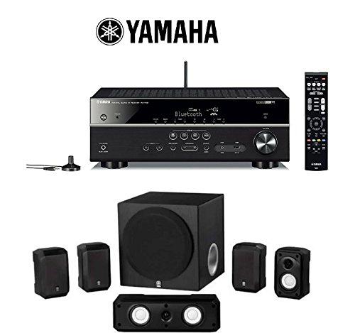 Yamaha RX-V481BL Receiver (Black) + Yamaha NS-SP18...