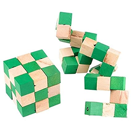 Wood Magic Cube Puzzle 2 Inches
