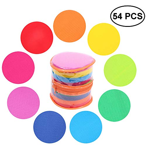 AllGoodWare 54 Pieces Spot Markers for Kinds, Carpet Marker Circle Dot Floor Markers with 9 for Preschool, Kindergarten, Classroom and Sport