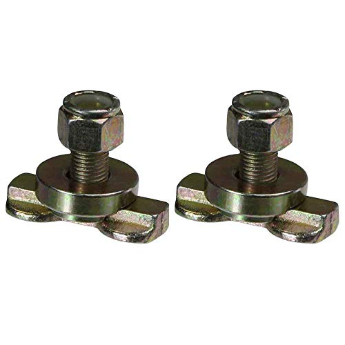 L-Track Double Lug Threaded Stud Fitting 2 Pack by US Cargo Control (L Track Double Lug Threaded Stud Fitting)