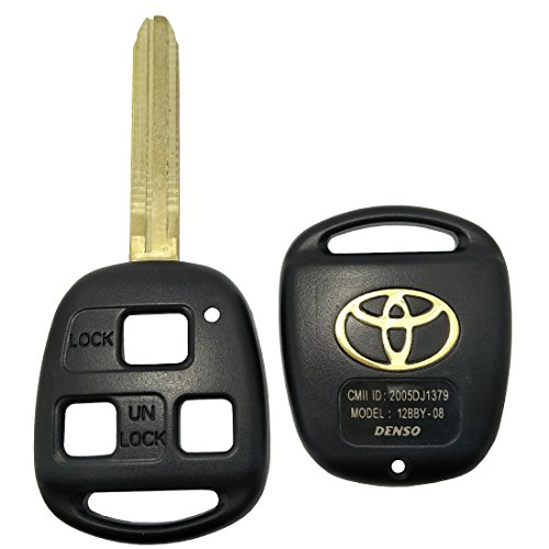 - Replacement Key Fob Case Fit For Toyota Keyless Entry Remote Key Fob Shell Cover No Chip (3 Button With Uncut Blade)