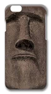 Easter Island Face Polycarbonate Hard Case Cover for iphone 6 plus 5.5 inch 3D