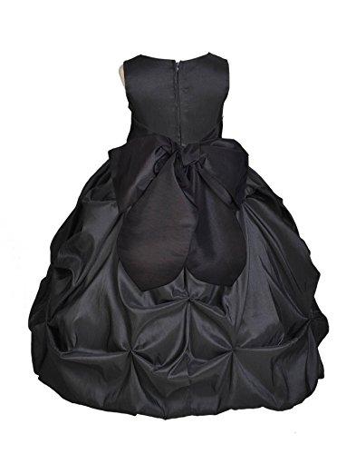 Wedding Pageant Taffeta Bubble Pick-up Kid Flower Girl Dress 301s m