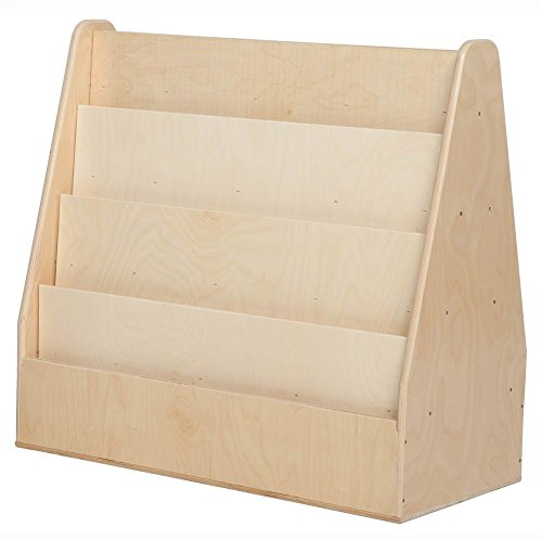 Contender C34230F Mobile Double Sided Book Display, Assembled by Wood Designs