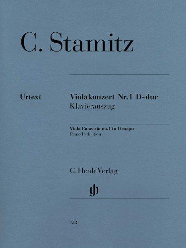 Viola Concerto No 1 D Major Violakonzert Nr. 1 D-Dur Klavierauszug