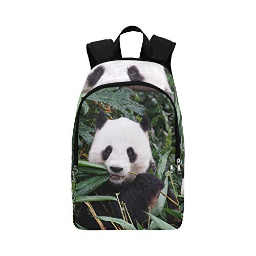 Giant Panda Eat Bamboo Leaves Casual Daypack Travel Bag College School Backpack for Mens and Women ()