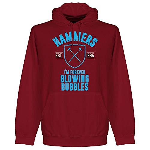 West Ham Established Hoodie - Maroon - L (West Ham Hoodie)