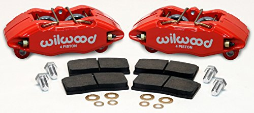 Front Stock Disc Spindle Brake (Wilwood 140-13029-R Brake Caliper and Pad Kit, Red, Front)