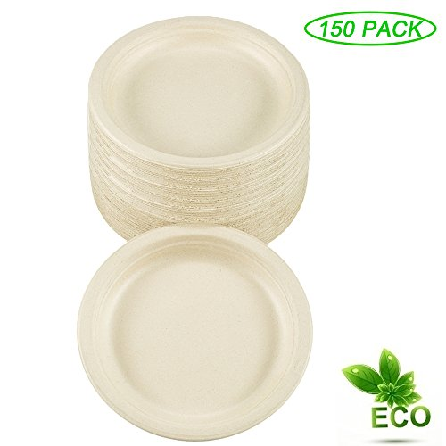 Benail 100% Compostable and Biodegradable Plate Made From Bamboo & Sugar Cane Eco-Friendly With Excellent Strength 7