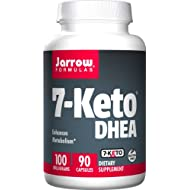 Jarrow Formulas 7-Keto DHEA, Enhances Metabolism, 100 mg, 90 Caps