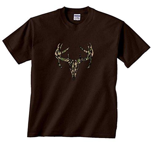 Deer Skull T-Shirt-Brown-S ()