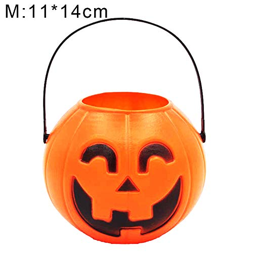 426JingYu Candy Holder Buckets with Handle for Trick-or-Treating Bags, Halloween Party Favors, Halloween Snacks, Halloween Goodie Bags, Bucket Decoration, Candy Pails M -