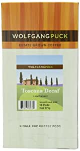 Wolfgang Puck Coffee, Toscana Decaf, Light Roast, 18-Count Pods (Pack of 3)