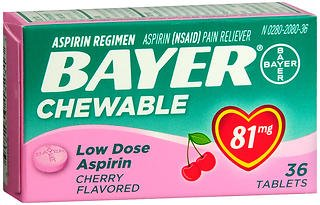 Used, Bayer Chewable Low Dose Baby  Aspirin Cherry  81 Mg for sale  Delivered anywhere in USA