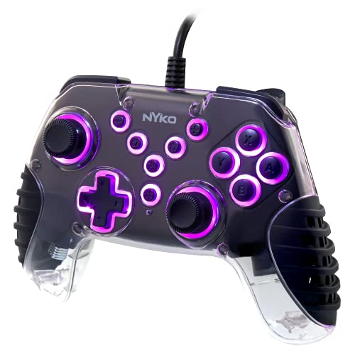 Nyko Air Glow - LED Fan-Cooled Wired Controller for Switch - LED Light Show and Hand Cooling Fan - Wired 10Ft Cable - Nintendo Switch