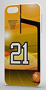 Basketball Sports Fan Player Number 21 Clear Rubber Decorative iphone 6 plus Case