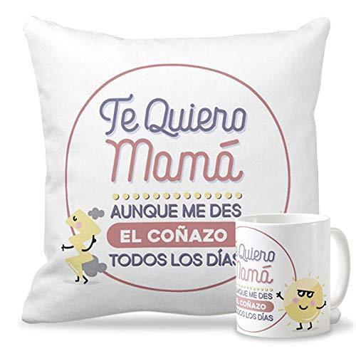 Getsingular Pack Taza + Cojín con Mensaje para el Día de la ...