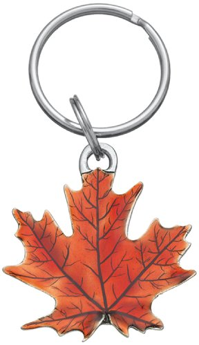DANFORTH - Maple Leaf Keyring (Autumn) - Pewter - Key Fob - Handcrafted - Made in USA (Maple Leaf Vermont)