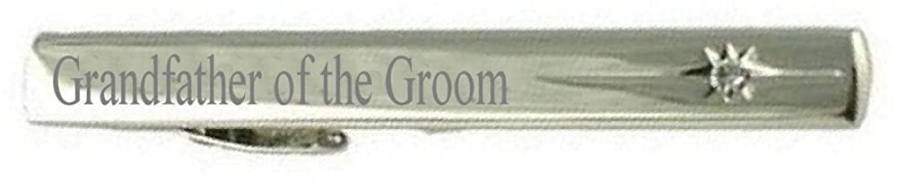 Keepsake Engraved Message Box Select Gifts Grandfather of The Groom Wedding Title Tie Clip Bar