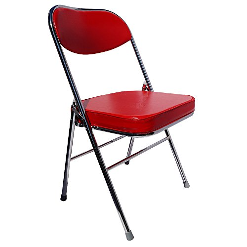Yi Hai Folding Office Chair Thick Padded,metal,red,set of On