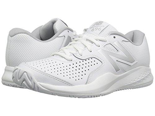 シェル小屋罹患率(ニューバランス) New Balance レディーステニスシューズ?スニーカー?靴 WC696v3 White/Silver 10 (27cm) D - Wide