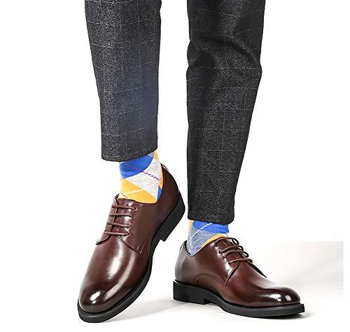 UK Casual Comode Colore Scarpe Uomo Scarpe Business Da In Uomo 5 dimensioni Lacci Pelle LXLA 5 8 Da Pizzo US Uomo Brown Brown Con 7 8gtqvw