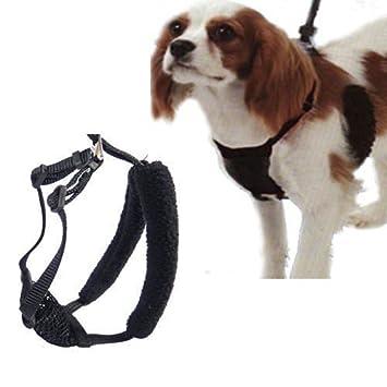 L/XL negro anti-pull malla perro arnés para cuello 16
