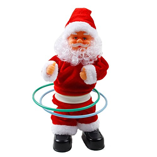 JTENGYAO Singing Hula Hoop Santa Claus Toy on Sofa Musical Plush Toy (Santa Claus Costumes For Sale)