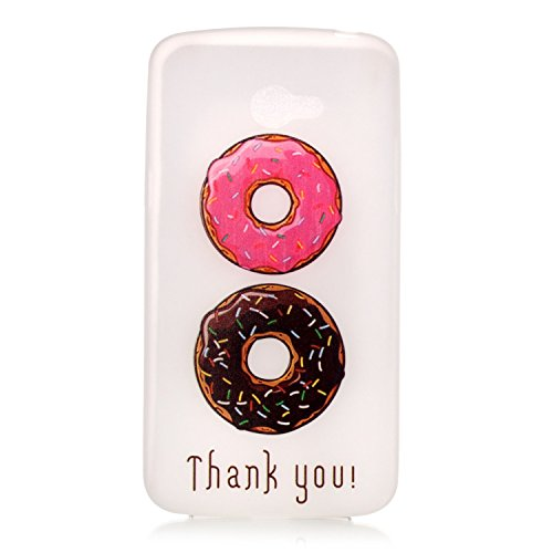 [Extremadamente Delgada] Funda 3D Silicona Transparent para LG K5 , Funda TPU Ultra Slim para LG K5 , TOCASO Case Fina Slim Fit Cristal Clear, Noctilucent Cover Glittering Bling Cute Pattern Colored P Donuts