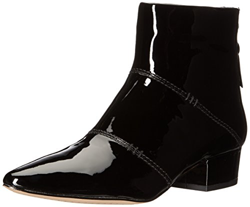 Heel Black Patent Ankle Boot - 5