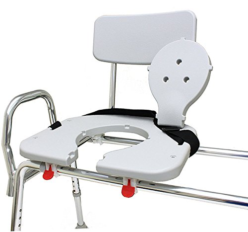 Sliding Bath Transfer Bench with Replaceable Cut-Out Seat (77391) - Extra Long (Base Length: 48'' - 49'') - Heavy-Duty Shower Bathtub Chair - Eagle Health Supplies by Eagle Health Supplies (Image #2)
