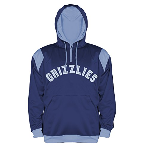 NBA Memphis Grizzlies Men's Big & Tall 1/4 Zip Synthetic Pullover Hoodie, 3X/Tall, Navy