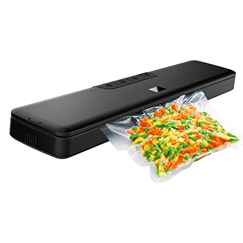 (Vacuum Sealer Machine by HYASIA,Automatic Sealer with Starter Kit, Multi-use Vacuum Packing Machine for Food Preservation, Dry & Moist Food Mod,20 Vacuum Sealer Bags Included)