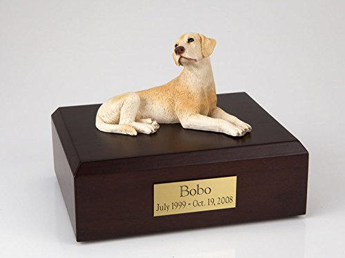 GENUINE North American Hardwood and Labrador Figurine Urn Yellow Xlarge by Ever My Pet