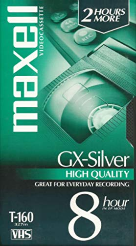 Maxell T-160 GX-Silver High-Quality VHS Video Cassette Tape