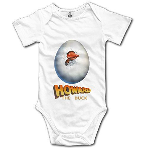 [Howard The Duck Unisex Short Sleeve Romper Bodysuit Playsuit Outfits For Baby] (Elvira Outfit)