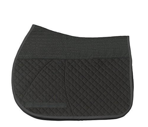 Success Equestrian Deluxe Jumper All Purpose A/P NO Slip Saddle Pad, Black, Large