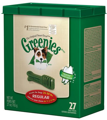 (Greenies - Dental Chews For Dogs Regular (For Dogs 25-50 lbs.) - 27 Chews)