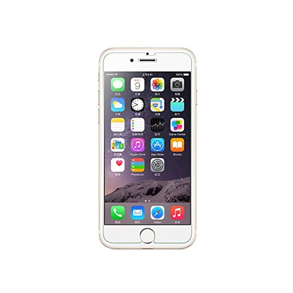 Luvvitt Tempered Glass Screen Protector for Apple iPhone 7 (2016) and iPhone 8 (2017) - Crystal Clear 7 iPHONE 7 TEMPERED GLASS SCREEN PROTECTOR: Compatible with iPhone 7. Doesn't interfere with the fingerprint home button. PREMIUM GRADE: Japanese Asahi Tempered glass with 9H+ scratch resistant surface (almost as hard as a diamond with highest resistance at 10H) ULTRA CLEAR: Shock-resistant layer under the glass. High touch sensitity.