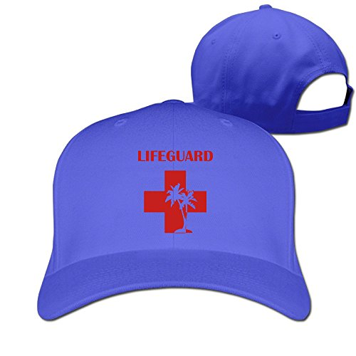 (LifeGuard TenCross Tree Peaked Baseball Snapback Unisex Cap RoyalBlue)