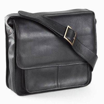 (Vachetta Executive Laptop Sling Laptop Briefcase Color: Black)